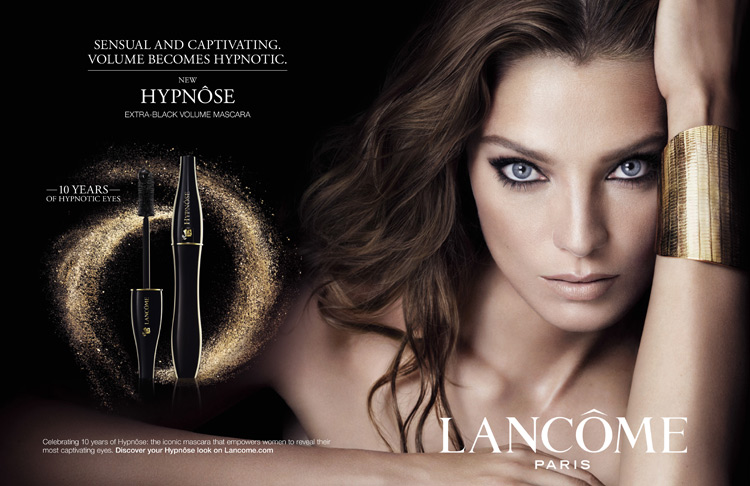 Lancome Hypnose Mascara Campaign 2014 featuring Daria Werbowy