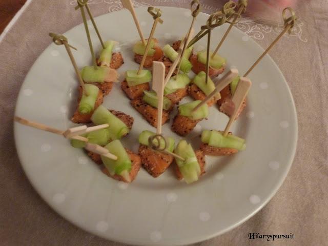 Bouchées de saumon et gingembre mariné
