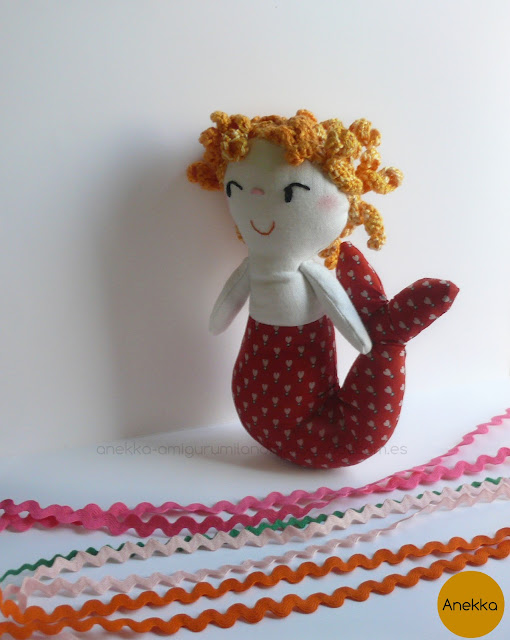 cloth mermaid, mermaid doll, cute
