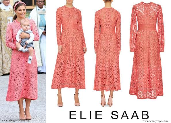 Crown Princess Victoria wore ELIE SAAB Guipure Lace Dress