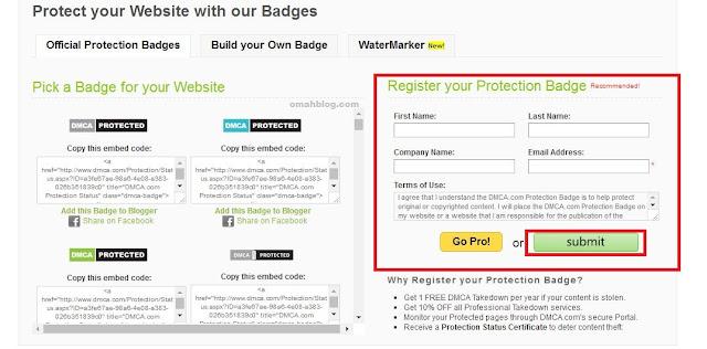 Cara Mendaftarkan Blog Ke DMCA