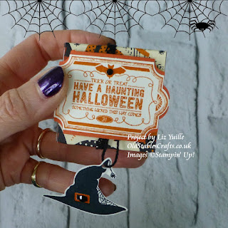 Lots of Labels and Spooky Cat Stamps Spooky Night Paper Stampin Up