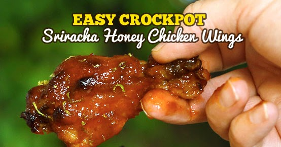 Easy Crockpot Sriracha Honey Chicken Wings (With Video)