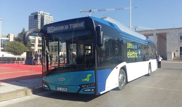 Elecric bus in Tirana