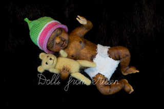 OOAK anatomically correct African baby boy doll