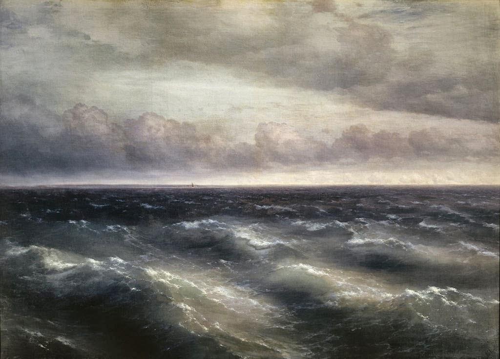 Картина Айвазовского На Черном море начинает разыгрываться буря