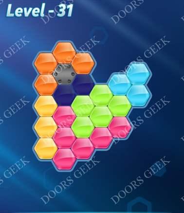 Block! Hexa Puzzle [6 Mania] Level 31 Solution, Cheats, Walkthrough for android, iphone, ipad, ipod