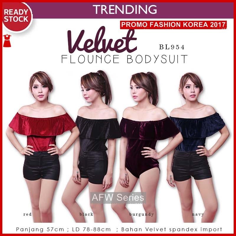 BAMFGW145 Velvet Bodysuit Premium Wanita PROMO