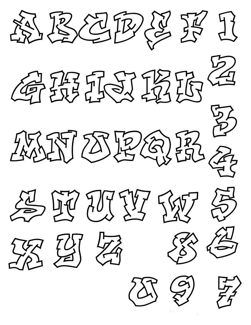 abcd in different styles abcd 123 graffiti alphabet 10642