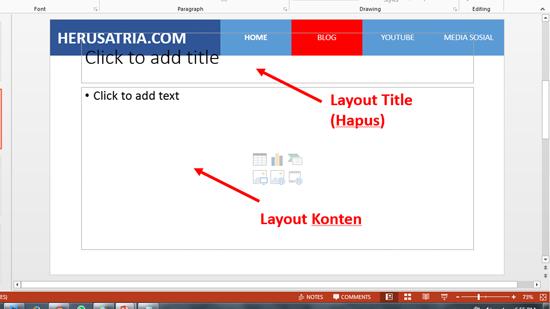 Cara Mengisi Materi pada Slide PowerPoint yang Sudah Diberi Menu Hyperlink (Tutorial Lanjutan)