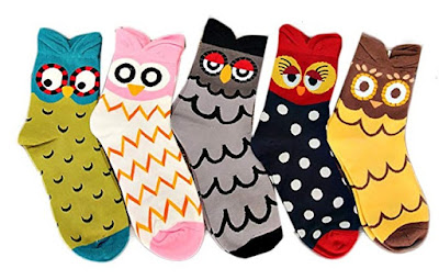 Women's Cute Socks with Owls Pattern: