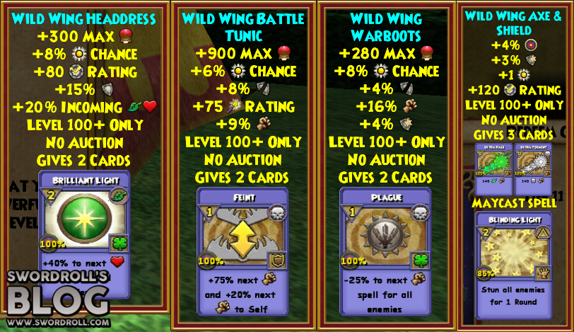 Wizard101 Aztecan Builder's Bundle Level 100+ Gear and Wand