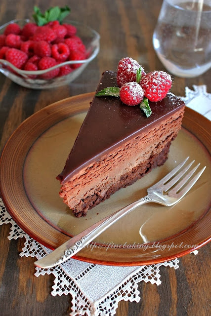 Quadruple Chocolate Mousse Cake