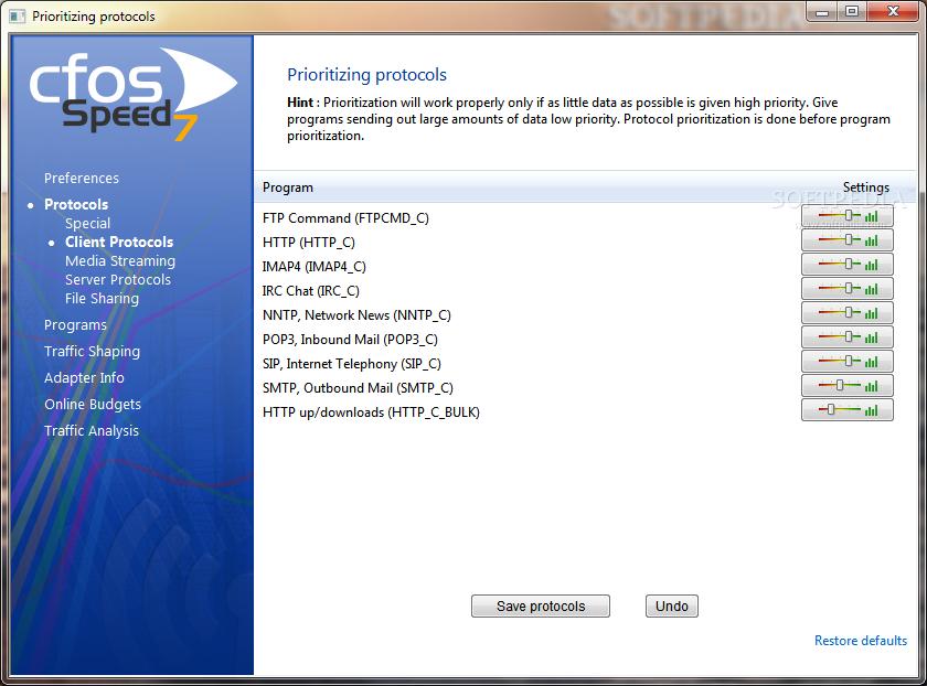 تحميل برنامج تسريع الإنترنت إلى اضعاف مضاعفة cFosSpeed 8.01
