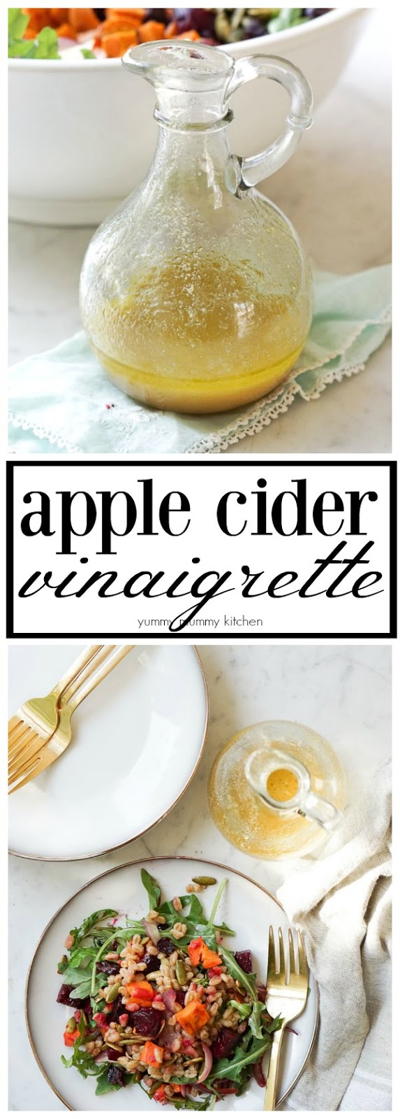 The perfect apple cider vinaigrette salad dressing recipe.