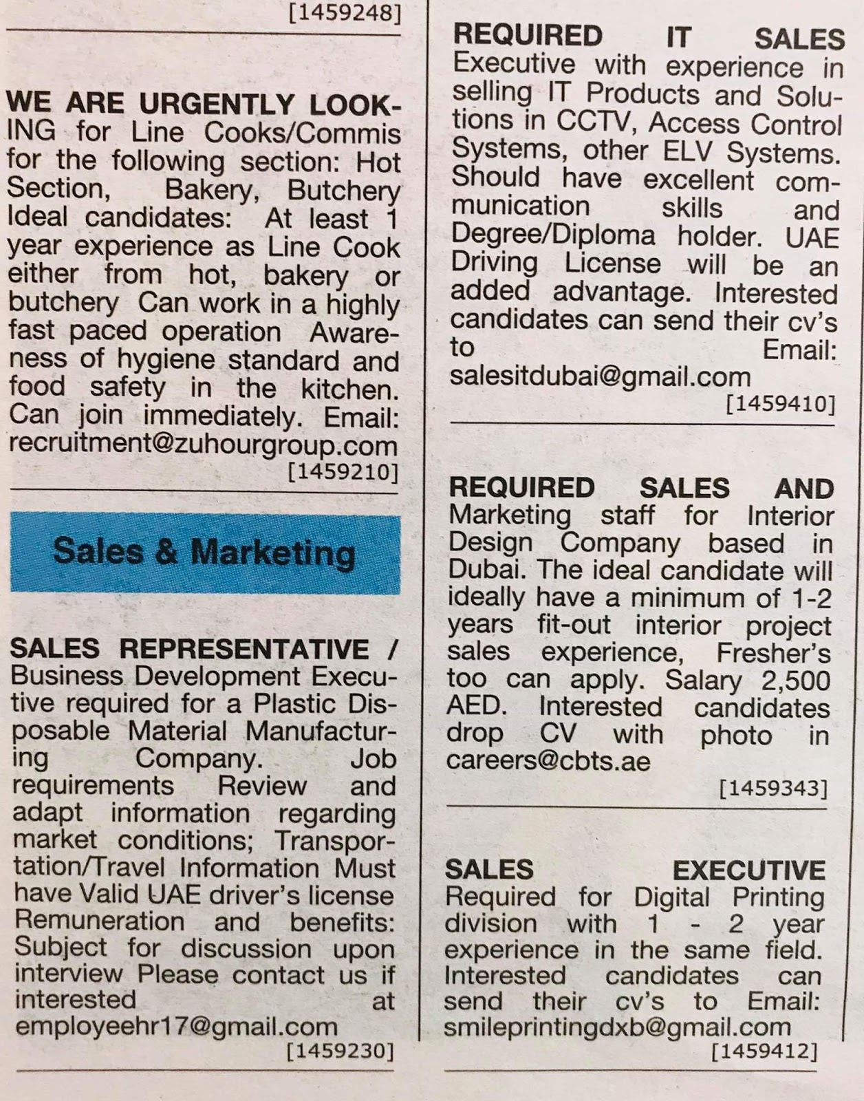 Hiring Positions in UAE Local Hiring Jobs Khaleej Times-UAE