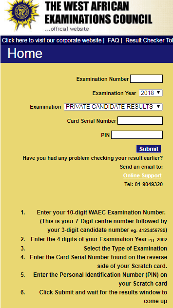 How To Check Waec First Series Result For