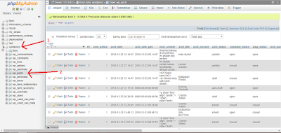 step 1 edit database