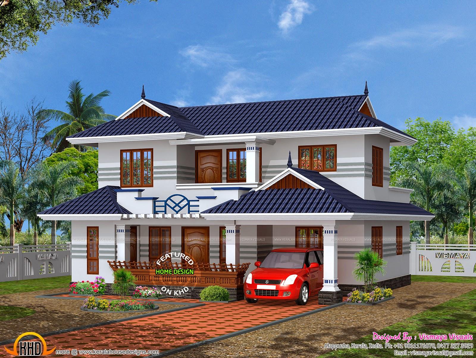 typical kerala house plan kerala home design and floor plans. Black Bedroom Furniture Sets. Home Design Ideas