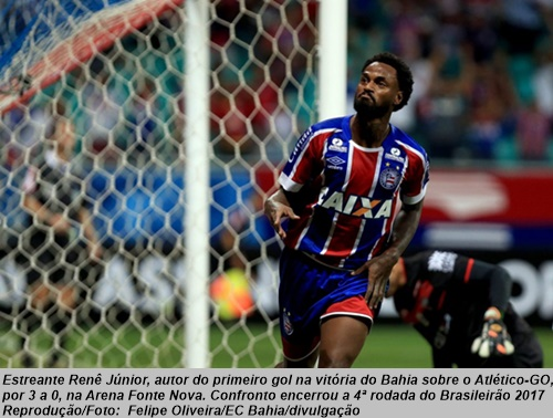 Bahia 3 x 0 Atlético-GO  4ª rodada do Campeonato Brasileiro 2017 ... 25964676e2a1f