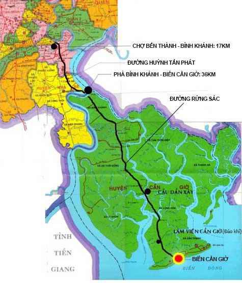 Kết quả hình ảnh cho bản đồ huyện cần giờ