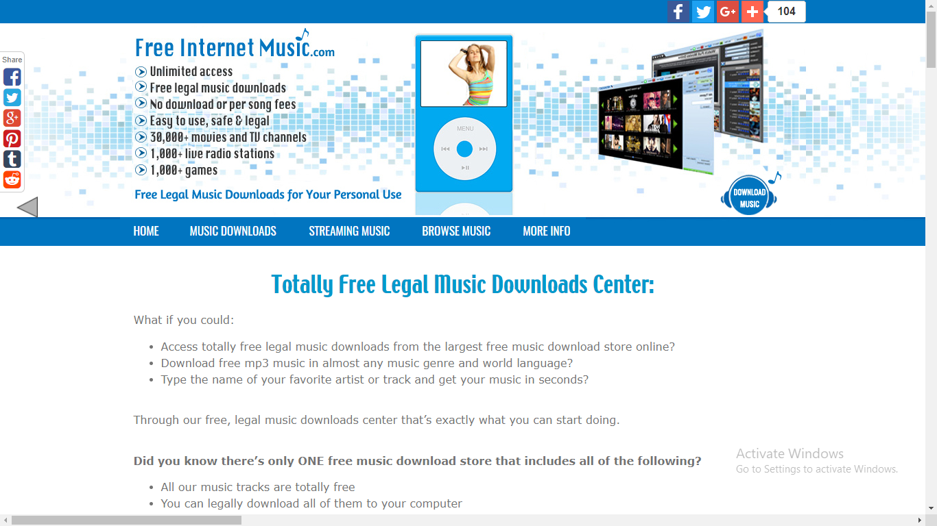 Free Legal Music & Mp3 Music Downloads at Free-Internet-Music com