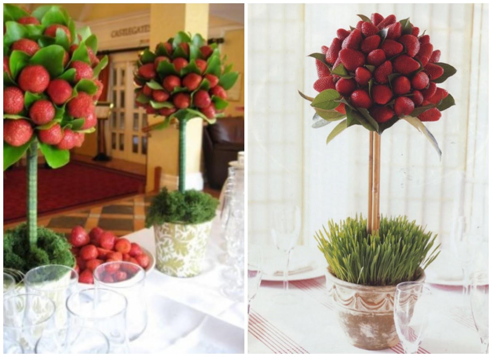 Decoraci n de mesas con fresas - Frutas artificiales para decoracion ...