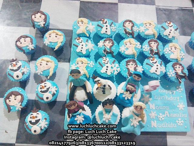 Cupcake Ulang Tahun Set Tema Frozen