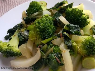 zöldséges, szabdzsi, subji, mangold, édeskömény, brokkoli, brokkolis, mangoldos