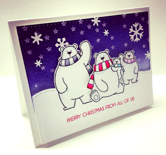 Merry Everything stamp set and Birdie Brown Polar Bear Pals stamp set and Die-namics - Annie #mftstamps