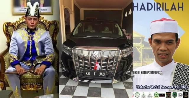 """Safari Dakwah di Pontianak, UAS Dijemput Langsung Sultan dengan Kendaraan Khusus """"KB 1 UAS"""""""