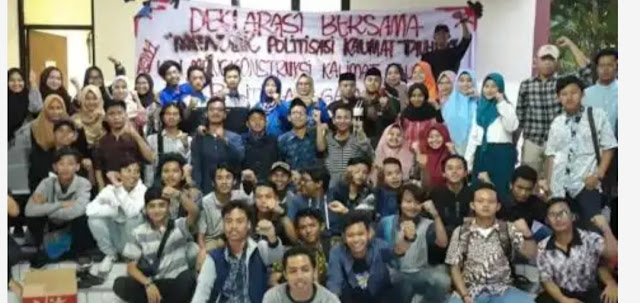 Mahasiswa UIN Jakarta Deklarasi Menolak Politisasi Kalimat Tauhid