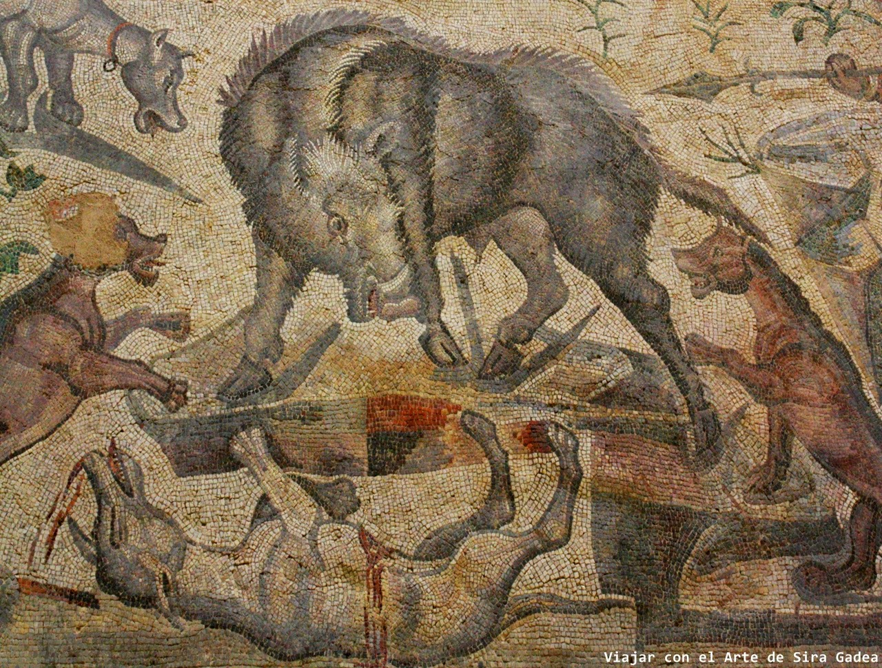mosaico jabalí La Olmeda