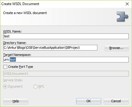 Ankur's blog: How to create a custom WSDL using XSD