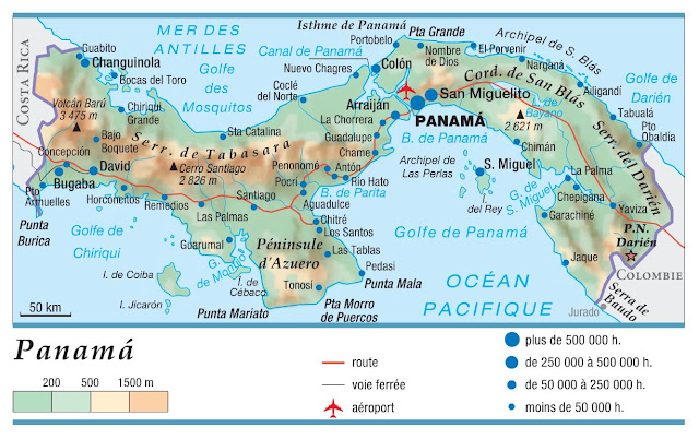 Carte simple du Panama