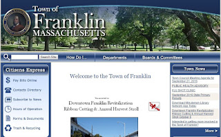 The look and feel of the Town of Franklin webpage will change in Oct or November