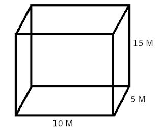 volume balok dengan 10x5x15