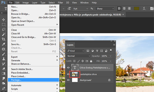 Package Command in Adobe Photoshop CC | DesignEasy