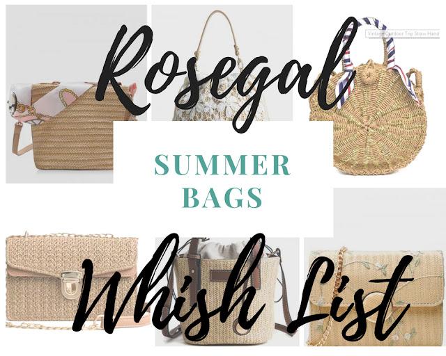 Rosegal whishlist | Najmodniejsze torebki na lato