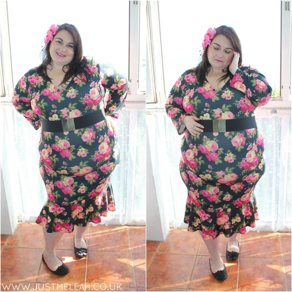 Lady Voluptuous Bellatrix plus size dress in Rose