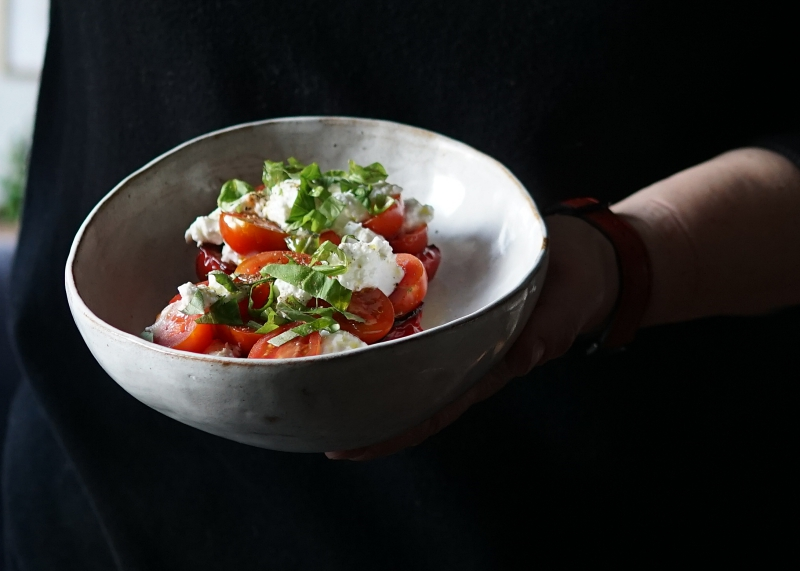 paprika, tomaatti, resepti, ricottajuusto