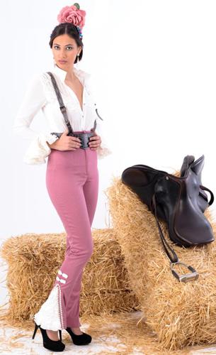 traje campero, pantalón y camisa flamenca Margarita Freire 2016