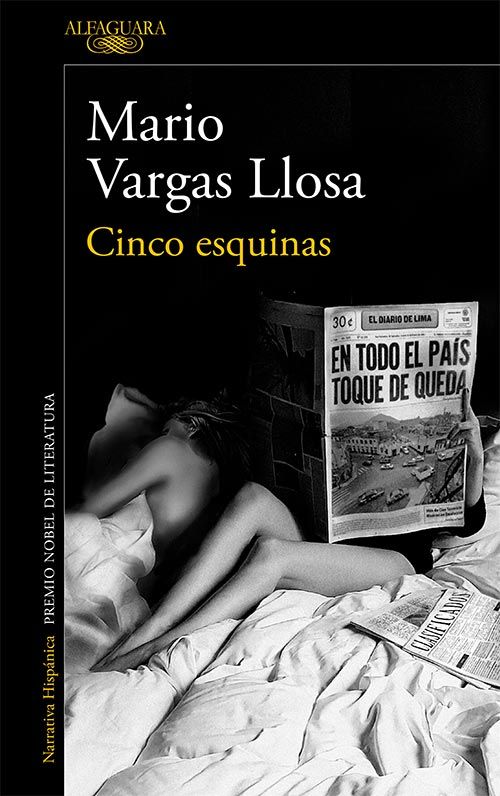 Portada Cinco esquinas de Mario Vargas Llosa