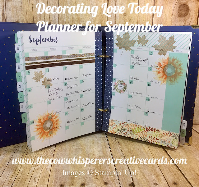 Planner, Love Today Planner, Fall, Decorating, At Home with You, Colorful Seasons, Burlap, Painted Harvest,Painted Autumn