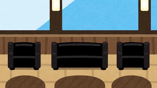 ラウンジのイラスト(背景素材)