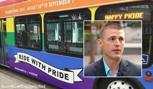 Bus con publicidad fiesta gay