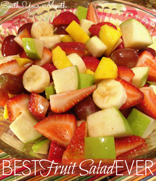 Fresh fruit salad with lemon sugar glaze