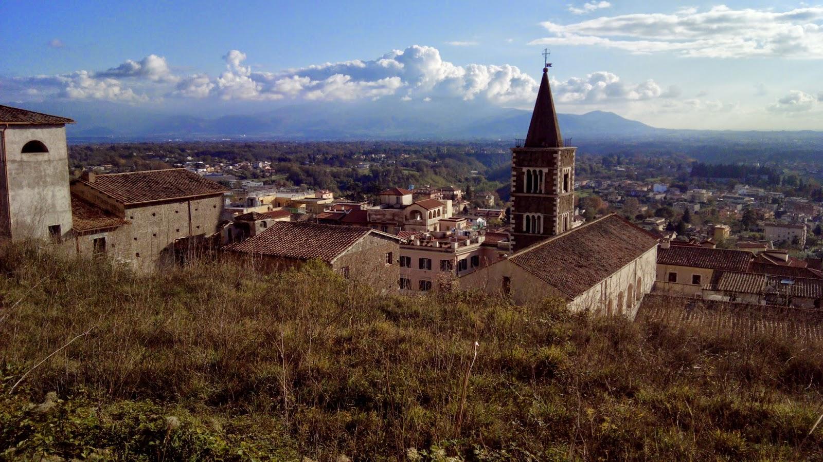 Vista de Tirar o fôlego do alto do museu arqueológico de Palestrina