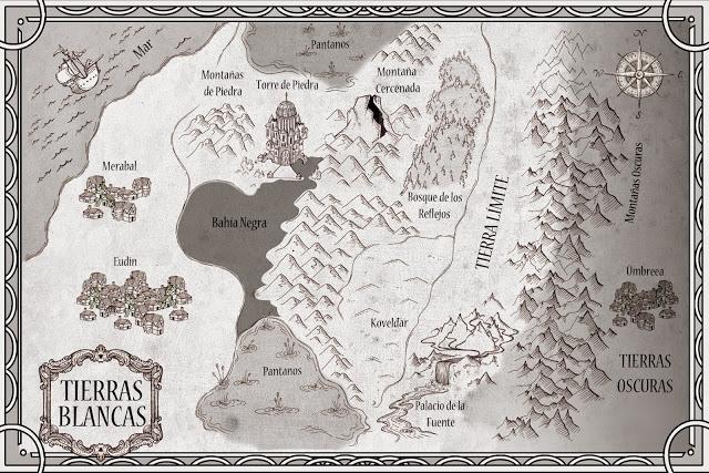Mapa de las Tierras Blancas, de la novela de Ana González Duque - Cine de Escritor