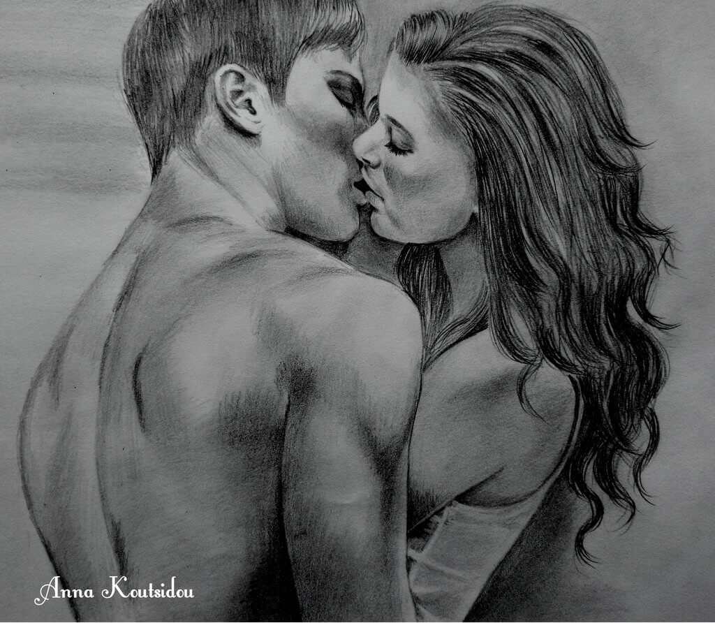 20 Mind-Blowing Pencil Drawings By Greek Artist That Illustrate The Beauty Of Love - Love without trust is just a word